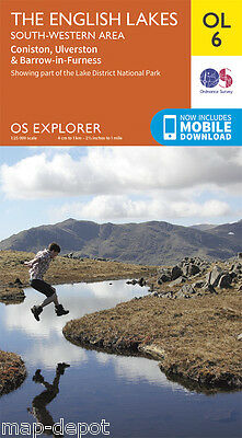 THE ENGLISH LAKES (South Western Area) EXPLORER Map - OL6 - OS Ordnance - *NEW*