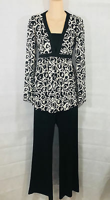 Motherhood Maternity Pants and Top Set Black and White Size Medium
