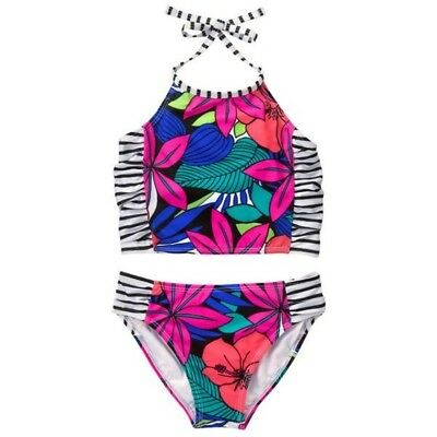 Girls Gymboree Floral Print Tankini / 2 Piece Swim / Bathing Suit, New with Tags