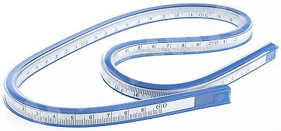 "COX 60 cm 24"" FLEXIBLE PLASTIC VINYL CURVE RULER DRAWING DRAFTING FRENCH CURVE"