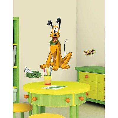 PLUTO GIANT WALL DECALS Disney Mickey Mouse Dog Stickers Kids ...