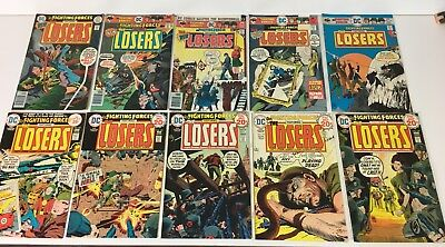 DC Comics Bronze age War Army Lot of 14 Our Fighting Forces THE LOSERS