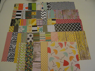 Lot Scrapbook Patterned Paper 6X6 All Occasion  Chevron Polka Dot
