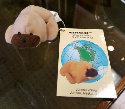 NEW VINTAGE WEEBEANIES COLLECTOR SERIES 1st EDITION keychain Juneau Walrus 1997