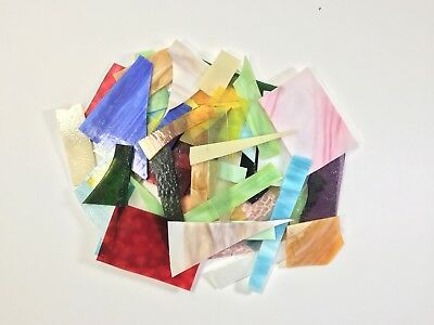 Scrap Stained Glass 3 LBS For Mosaic/Other Projects Assorted Texture/Color/Size