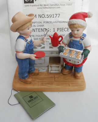 Home Interiors Homco Denim Days Cookies For Santa  #59177 New Box Rare