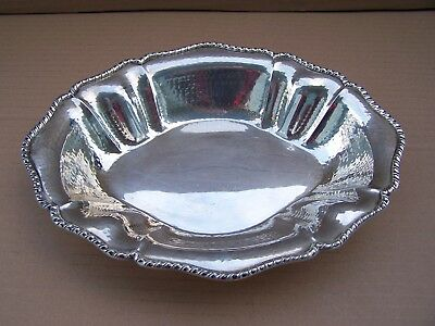 Italian Hand Hammered 800 Silver Large Bowl, by Battuto A Mano 368 grams
