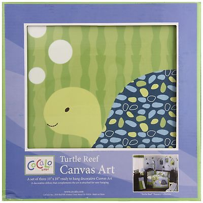 CoCaLo Turtle Reef 3 Piece Canvas Wall Art (Discontinued by Manufacturer)