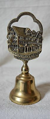 Vtg Shakespeare's House Stratford on Avon Brass BELL Made in England souvenir