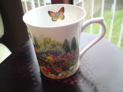Royal Heritage by Queen's English Bone China mug With Cat & Butterfly,VGC,