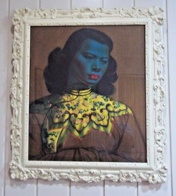 Tretchikoff Print , ' Chinese Girl ' , in Vintage Frame