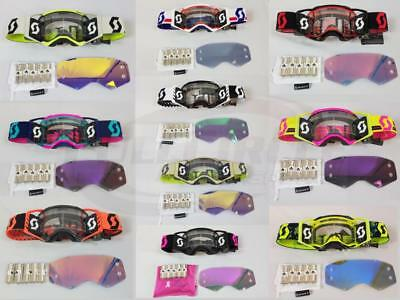 Scott USA Prospect Goggle Roll Off WFS Grid Film Works Multi-Color & Clear Lens