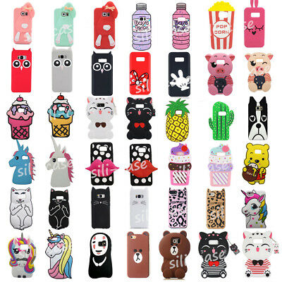 3D Cute Cartoon Kids Soft Silicone Case Cover for Samsung case for S6/S7 Edge