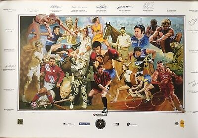 MELBOURNE'S Greatest Ever Sports Stars Limited Edition SIGNED PRINT