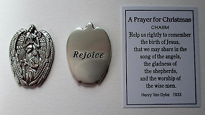 L Rejoice A PRAYER FOR CHRISTMAS Pocket Token Charm Holy Family ganz nativity