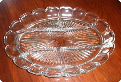 Heisey Clear Colonial Pattern (Stem #373-341) 5 Part Relish