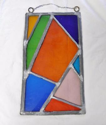 Antique Multi-Colored Leaded Stained Window From England