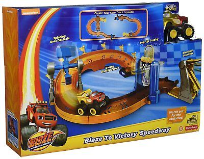 Fisher Price Blaze Monster Truck Machine Victory Speedway Race Track Set 3+ Toy