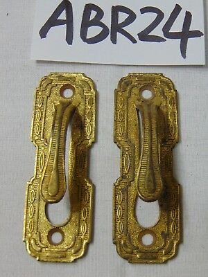 Vintage Pair Of Drape Curtain Holders-Etched Design Victorian Tie Backs