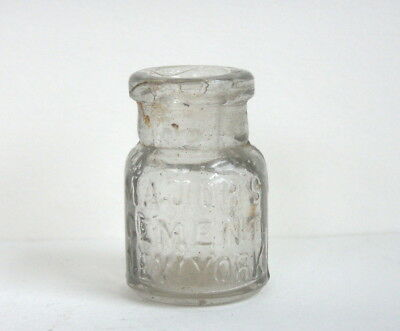 Small Antique Glass Bottle, Majors Cement New York