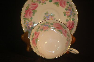 Tuscan Pink Floral cup and Saucer