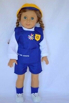 """New 18"""" Doll Clothes Daisy Scout Uniform American Girl Doll Daisy Scout Uniform"""