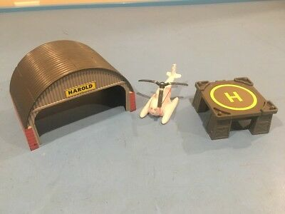 Thomas & Friends Trackmaster Train Set Harold At The Hanger Helicopter Lot RARE!