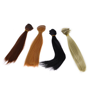 20x100cm High-temperature Long Straight Colors Hair Wig For BJD Doll Girls Toys