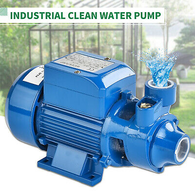 1/2HP 370W Electric Industrial Centrifugal Clear Clean Water Pump Pool Pond Farm