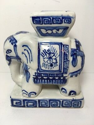 "Vintage Ceramic Howdah Elephant 7"" Home Decor"