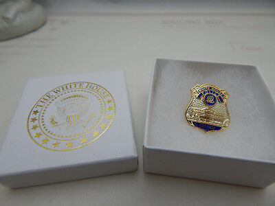 White House Police Pin-Miniature White House Badge with Official White House Box