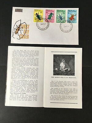 Papua & New Guinea First Day Cover - Conservation Issue of 4 Beetles