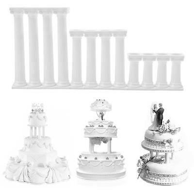 4pcs Grecian Pillars Tiered Support Wedding Cake Stands Length 7.5cm-17.5cm FW