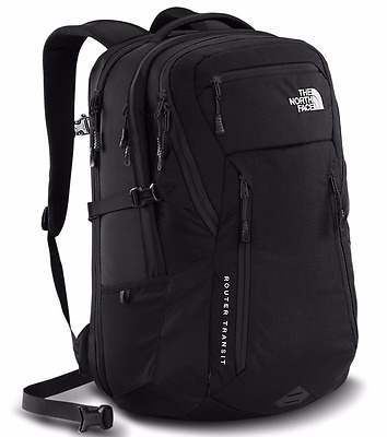 NEW The North Face Router Transit BLACK 41L Laptop Backpack Rucksack TSA