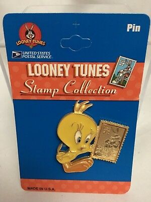 Vintage Looney Tunes Tweety Bird Pin USPS Stamp Collection Made in USA