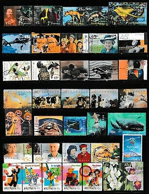 1997 To 2000 100 Australian Stamps  All Different  Used