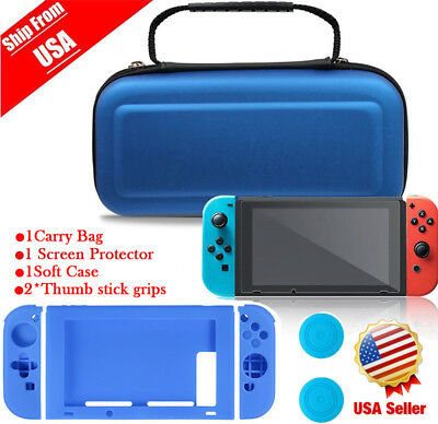 Travel Carrying Cover Case Bag For Nintendo Switch Shockproof +Screen Protector