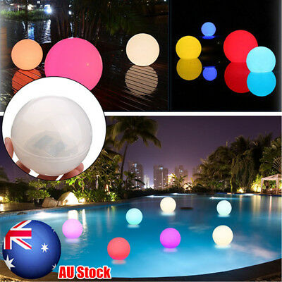 1/5X Solar Color Changing LED Floating Ball Light Swiming Pool Outdoor Garden