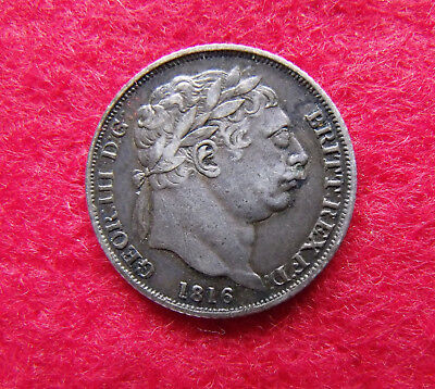 1816 Sixpence George III .925 Silver British Penny 6d Coin
