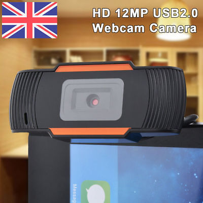 12 MP USB2.0 HD 1080P Webcam Camera with MIC Clip-on for Computer PC Laptop UK