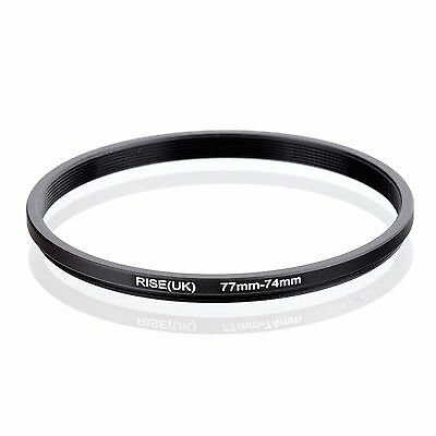 RISE(UK) 77-74MM 77 MM- 74 MM 77 to 74 Step Down Ring Filter Adapter