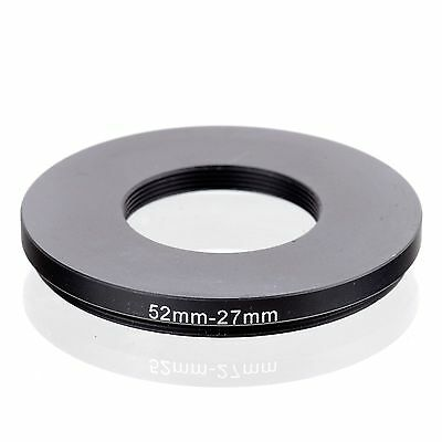 RISE(UK) 52mm-27mm 52-27 mm 52 to 27 Step down Ring Filter Adapter black