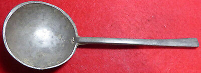 18th C Pewter Spoon