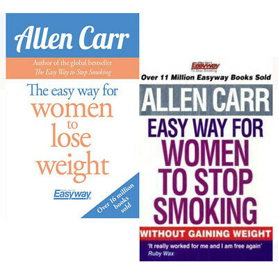 Allen Carr Collection Easy Way for Women to Stop Smoking 2 Books Set Lose Weight