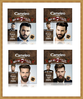 CAMELEO MEN Grey Off Hair Color, Beard and Mustache IN 2 SACHETS for 5 min.