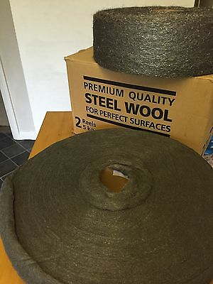 5 Kg Roll of Premium Quality Steel Wool - Choice of Grade Free UK P&P