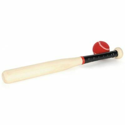 "Wooden Rounders and Baseball Bat And Ball 18"" Sports Outdoor Kids"