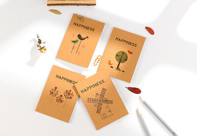 Happiness Birds Flowers A6 Mini Cute Notebooks Small Notepads Pocket Memo Pads
