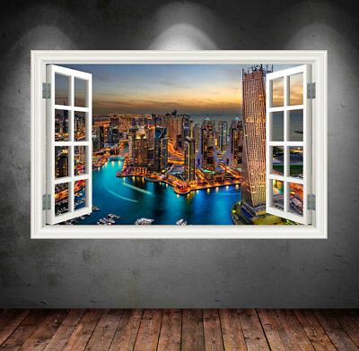 Full Colour NEW YORK CITY SUNSET wall sticker decal transfer Graphic Print WSD13