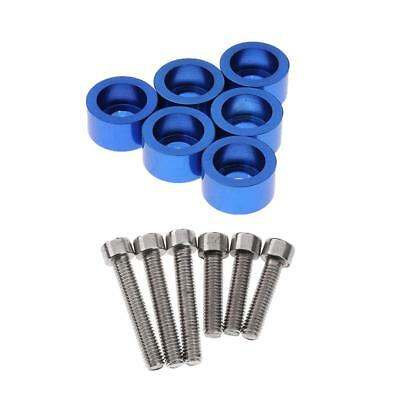 6 Sets M6 Intake/ Exhaust Stud Bolt Washer Kit Blue for Acura Honda B D F H